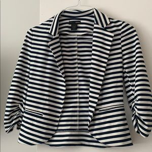 Aqua 3/4 sleeve sailor blazer